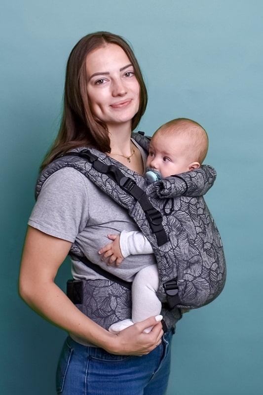 Эрго-рюкзак Adapt серый Leaf 0