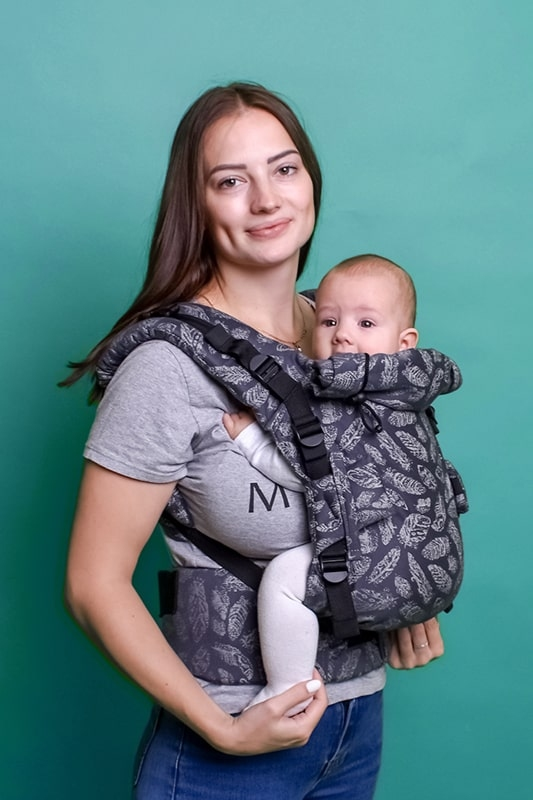 Эрго-рюкзак Adapt серый Feathers 0