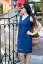 Платье с V-ным вырезом 3