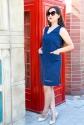 Платье с V-ным вырезом 1