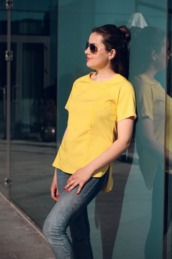 Блузка Сонце Жовтий — купити у Львові за ціною 390 грн. ➤ інтернет ... ba3547bd2c0d3