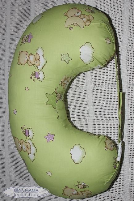 Подушка для годування салатова