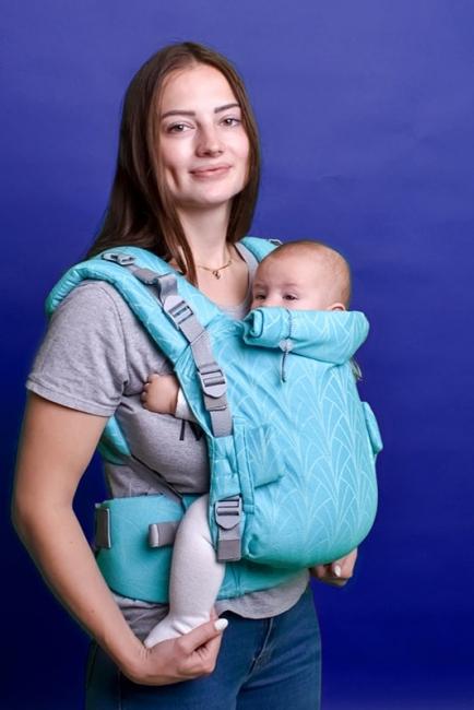 Ерго-рюкзак Adapt бірюзовий Lily