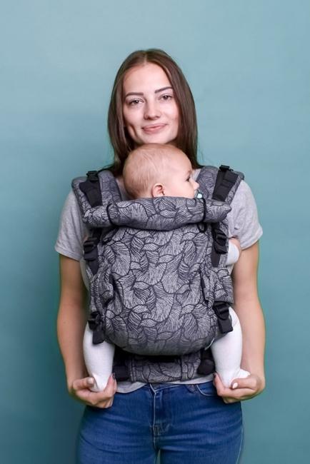 Ерго-рюкзак Adapt сірий Leaf