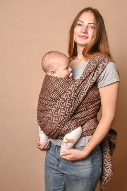 Слинг шарф шоколадный Geometry