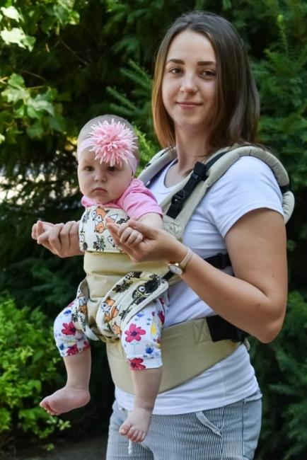 Эрго-рюкзак Світ навколо бежевый Лисята