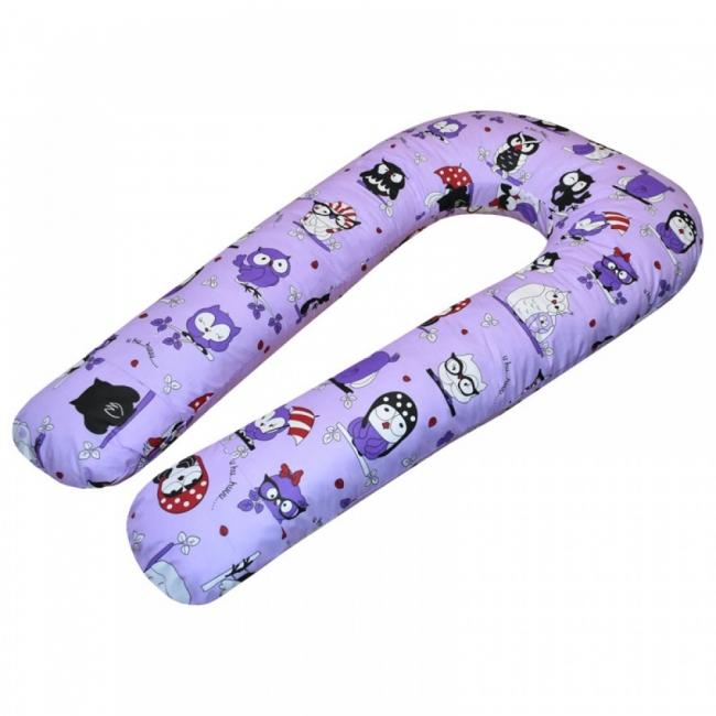 U-образная подушка Совы на фиолетовом
