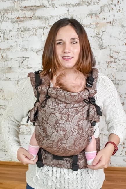 Ерго-рюкзак Adapt шоколадний Leaf