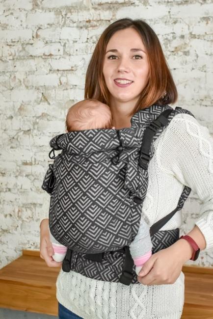 Эрго-рюкзак Adapt серый Geometry