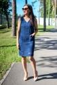 Платье с V-ным вырезом
